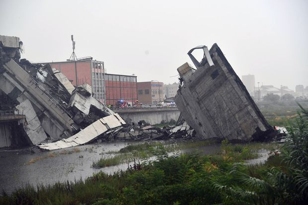 Italy motorway bridge collapses, 'dozens' feared dead
