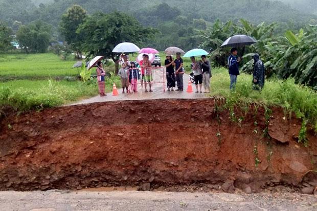 Runoff, flooding caused by typhoon ravage North