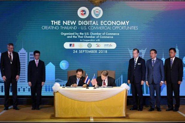 MoU on digital trade and investment signed with US | Bangkok