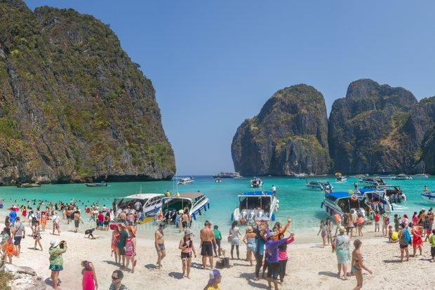 Maya Bay S Beach Off Krabi Province Will Be Closed For At Least Another Year And Possibly Until 2020 File Photos