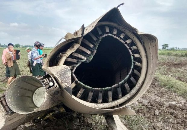 Two Myanmar jet pilots, young girl killed