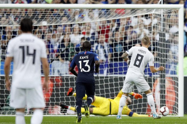 Griezmann double for France sinks Germany deeper