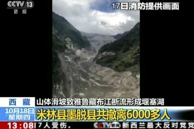 China orders evacuations after Tibet landslide