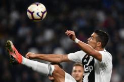 Ronaldo celebrates landmark goal but Juve's perfect run broken   Bangkok Post: news