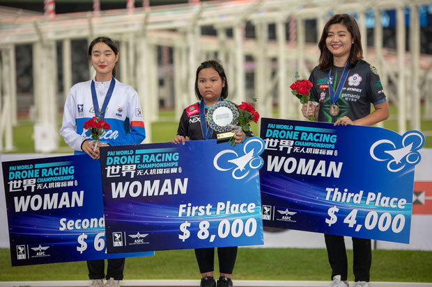 Thai girl, 11, world's youngest drone racing champion