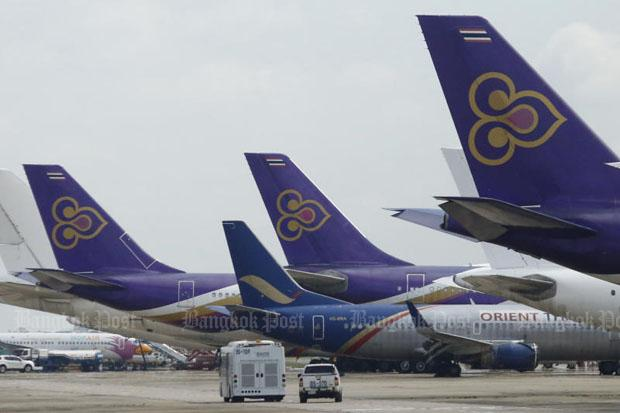 The management of Thai Airways International on Thursday night announces its doubled loss in the third quarter due to several factors. (File photo)