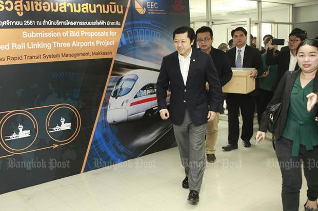BTS, CP consortia enter bid for airport train project | Bangkok Post: business