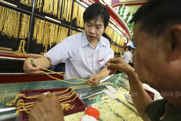 Gold prices fell B50 to B18,900.