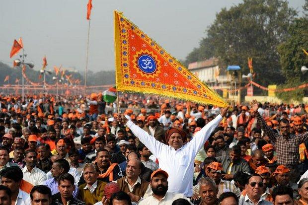 Indian crowds call on Modi to help build Ayodhya temple | Bangkok Post: news