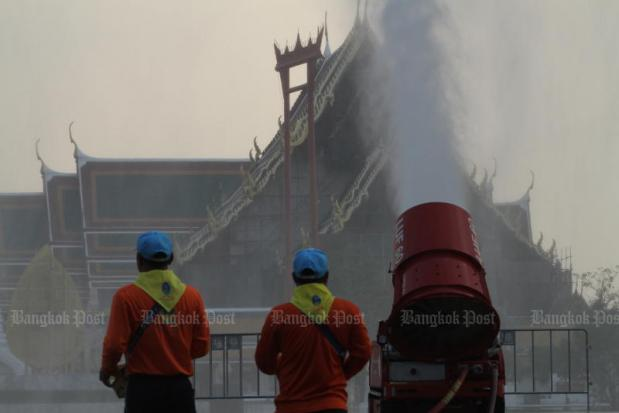 Capital One Auto Contact >> Bangkok fires water cannon into the air to fight pollution | Bangkok Post: news