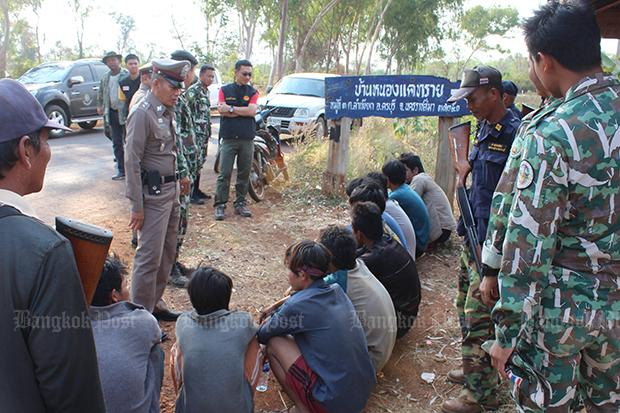 Cambodians arrested preparing to poach phayung in park