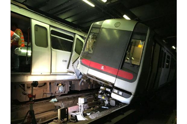 Hong Kong subway trains collide during signalling test | Bangkok Post: news