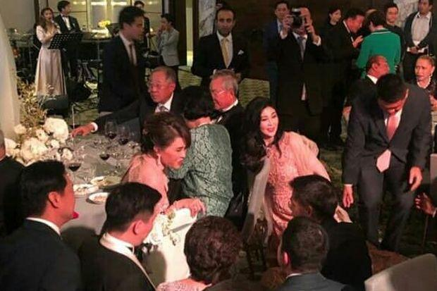 Princess presides over reception for Thaksin's daughter