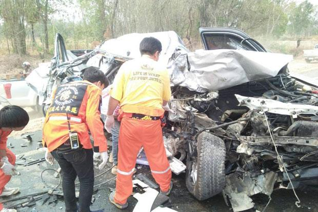 Couple killed, young daughter injured in head-on collision | Bangkok Post: news