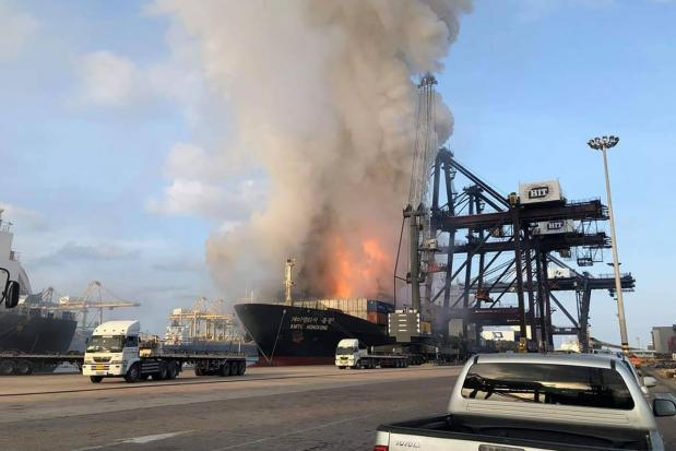 Sri Racha 'danger zone' after ship bursts into flames