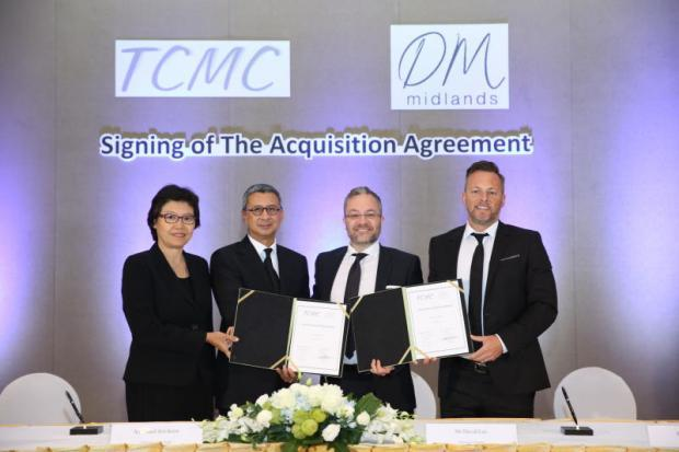 Dm Midlands Chief Executive David Lee And Design Director Mark Smith Attend The Acquisition Signing For Furniture