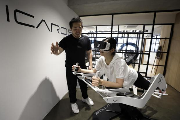 Virtual reality hits the gym