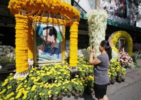 Floral Tribute to King Bhumibol