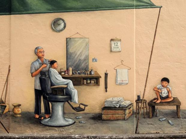 Singapore's artistry on the wall