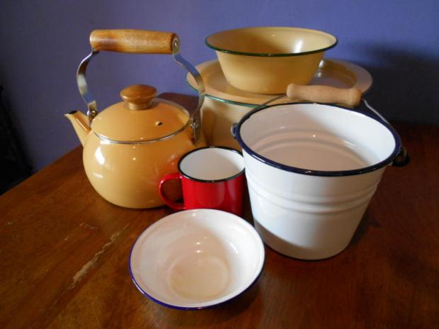 The charm of enamelware