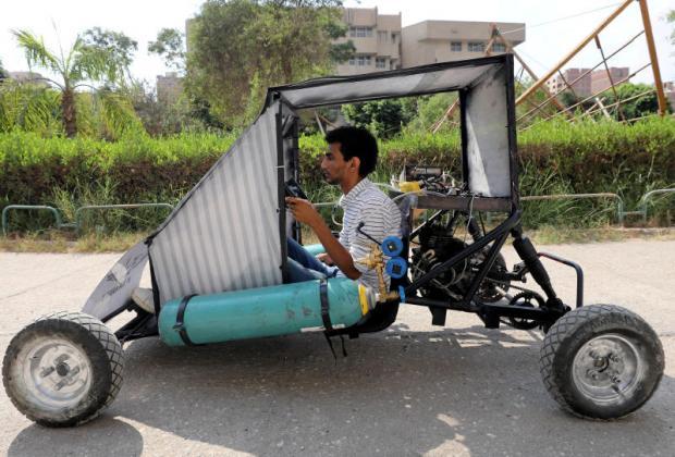 Car designed to run on air