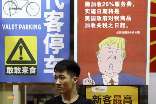 Image result for cartoons on sino-american trade war