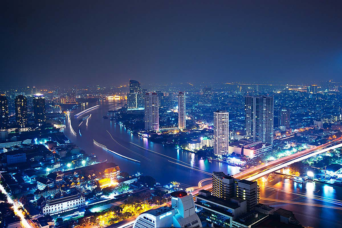 Bangkok in the night