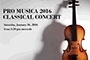 Pro Musica 2016 Classical Concert for Charity